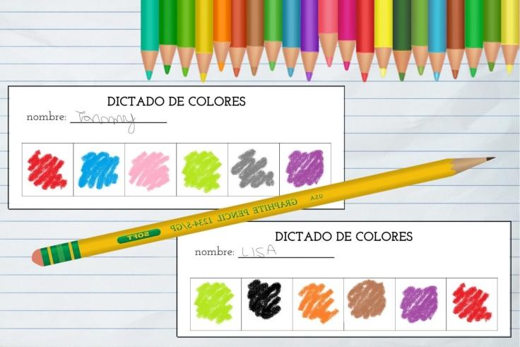 dictado de colores